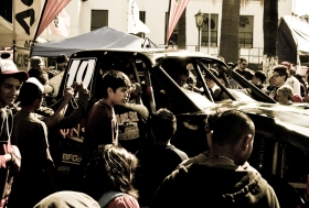 Car and Crowd
